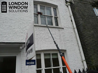 water fed pole window cleaning of residential property